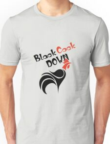 Funny Black Cock Down Unisex T-Shirt