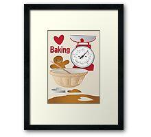 Love Baking Retro Style Poster Framed Print
