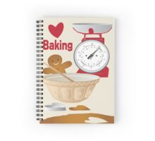 Love Baking Retro Style Poster Spiral Notebook