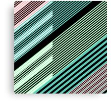 Abstract Striped Island Canvas Print