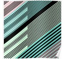Abstract Striped Island Poster