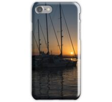 Sicilian Sunset at the Syracuse Harbour  iPhone Case/Skin