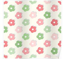 Cute simple floral pattern Poster