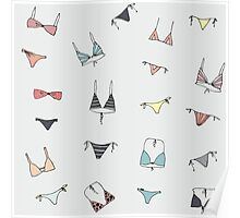 Swimming suit pattern on gray Poster