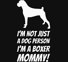 Boxer Mommy Womens Fitted T-Shirt