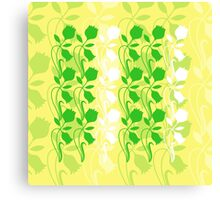Layered Floral Silhouette Print (8 of 8 please see notes) Canvas Print