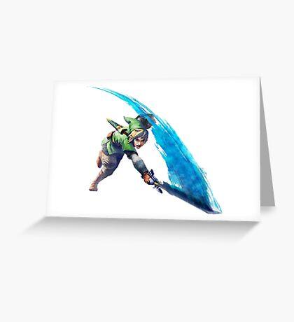 Zelda, link Greeting Card