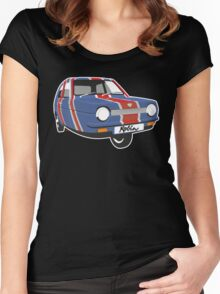 Reliant Robin Union Flag Women's Fitted Scoop T-Shirt