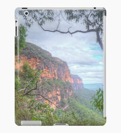 Mountains Cliff With Natural Frame iPad Case/Skin