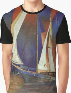 Gulet Under Sail Graphic T-Shirt