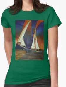 Gulet Under Sail Womens Fitted T-Shirt