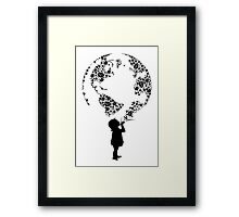 Earth Child (black) Framed Print