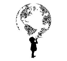 Earth Child (black) Photographic Print