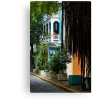 San Juan, Puerto Rico - Gorgeous Caribbean Colors and Flora Canvas Print