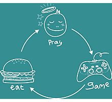 eat,pray & game Photographic Print