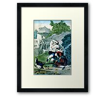 Frightened brood - Circa 1880 - Currier & Ives Framed Print