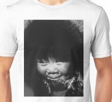 BW USA Alaska eskimo child 1970s Unisex T-Shirt