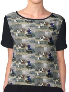 Frolicsome pets - 1856 - Currier & Ives Chiffon Top