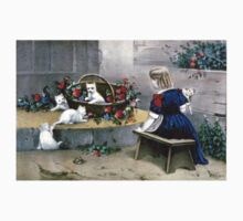 Frolicsome pets - 1856 - Currier & Ives Baby Tee