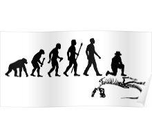 Funny Paleontologist Evolution  Poster