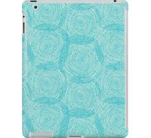 Turquoise spirals  iPad Case/Skin