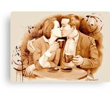 Coffee Kiss Canvas Print