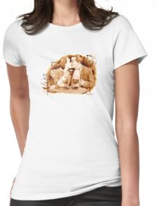 Coffee Kiss Womens Fitted T-Shirt