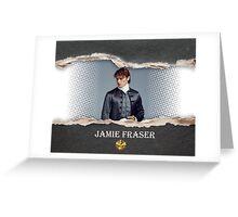 Jamie Fraser tear out/Outlander Greeting Card