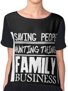 Family Business. (White version) Chiffon Top