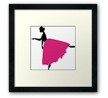 girl ballerina in a pink dress Framed Print