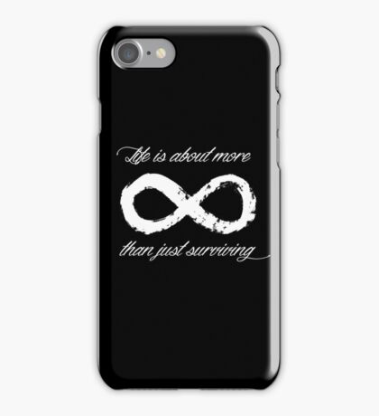 Life Infinite (Black) iPhone Case/Skin