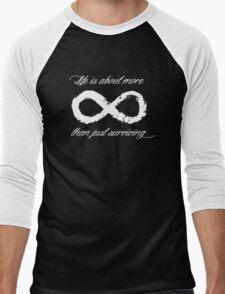 Life Infinite (Black) Men's Baseball ¾ T-Shirt