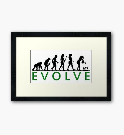Funny Women's Gardening Evolution Framed Print