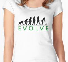 Funny Women's Gardening Evolution Women's Fitted Scoop T-Shirt