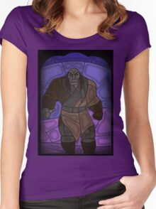 Warlord - stained glass villains Women's Fitted Scoop T-Shirt