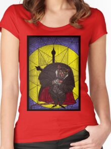 Steal the crown jewels - stained glass villains Women's Fitted Scoop T-Shirt