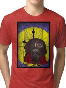 Steal the crown jewels - stained glass villains Tri-blend T-Shirt