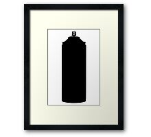Aerosol spray paint can  Framed Print