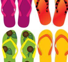 Flip Flops Summer Beach Lake Sticker