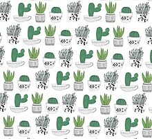 succulent & cactus love  by justinehearts