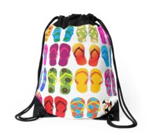 Flip Flops Summer Beach Lake Drawstring Bag