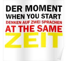 Funny German Bilingual Poster