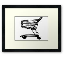 Shopping Trolley Framed Print