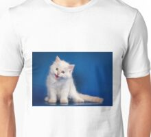 Fluffy charming cute kitty cat Unisex T-Shirt