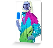 Blue ice Zombie Greeting Card