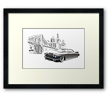 Cadillac DeVille Hardtop Coupe Custom '1960 (brown) Framed Print