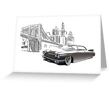 Cadillac DeVille Hardtop Coupe Custom '1960 (brown) Greeting Card