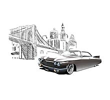 Cadillac DeVille Hardtop Coupe Custom '1960 (brown) Photographic Print