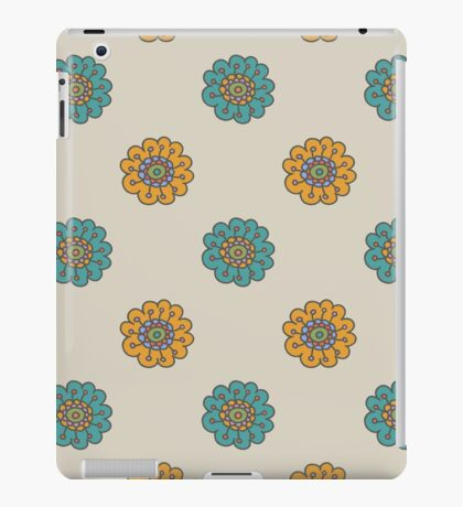 Retro doodle floral pattern iPad Case/Skin