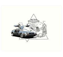 DeLorean DMC-12 (silver) Art Print